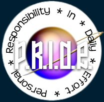 P.R.I.D.E. = Personal Responsibility In Daily Effort